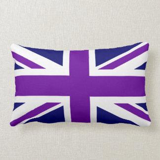 Create Custom Purple Union Jack Lumbar Cushion