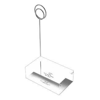 Create Custom Table Place Menu Number Card Holder