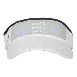 Create custom text simple three words expression visor