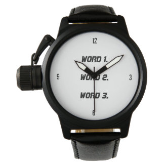 Create custom text simple three words expression watch