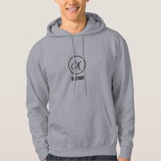 Create kingdom comfortable men's grey hoodie