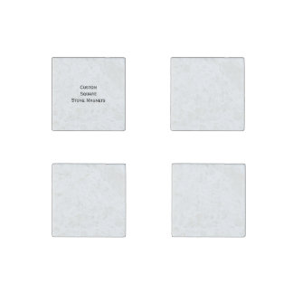 Create Make Custom Set of 4 Square Fridge Natural Stone Magnet