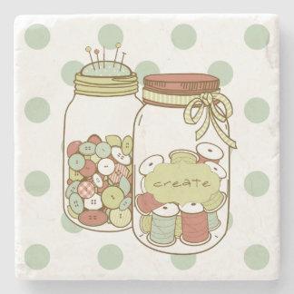 Create mason jar coaster