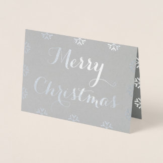 Create Merry Christmas Custom Personalized Holiday Foil Card
