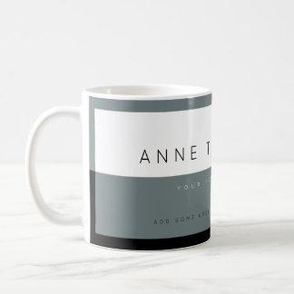 create modern gray&white custom profession coffee mug