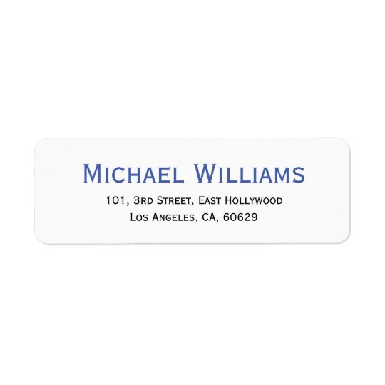Create Modern Personalised Return Address Label