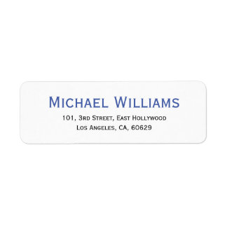 Create Modern Personalized Return Address Label