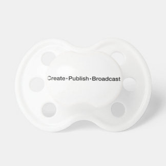 """CREATE  •  PUBLISH  •  BROADCAST"", text, CREATE, Dummy"