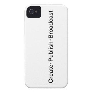 """CREATE  •  PUBLISH  •  BROADCAST"", text, CREATE, iPhone 4 Case-Mate Cases"