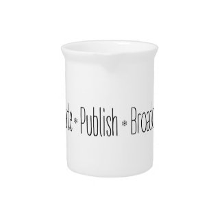 """CREATE  •  PUBLISH  •  BROADCAST"", text, CREATE, Pitcher"