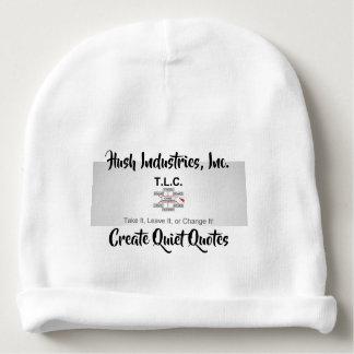 create quiet quotes baby beanie