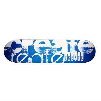 Create; Royal Blue Stripes Custom Skate Board