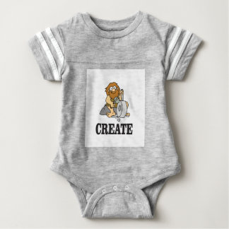 create stone man baby bodysuit