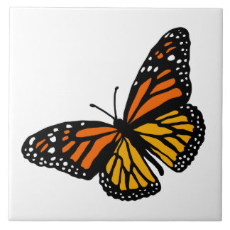 Create Your Bkgnd Color Monarch Butterfly Tile