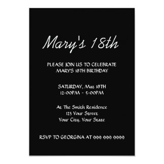 Create Your Black 18th Birthday Invitation