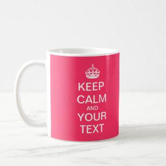 "Create Your Custom Text ""Keep Calm and Carry On""! Coffee Mug"
