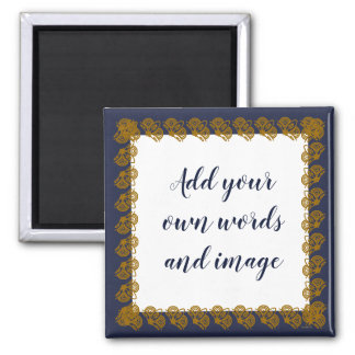 Create Your Magnet (Navy/Gold)