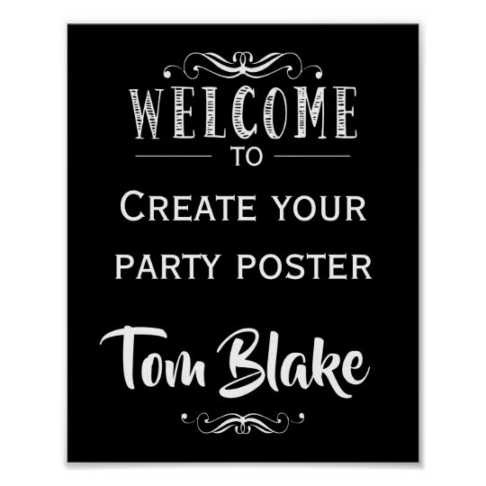 Create your our Party Sign