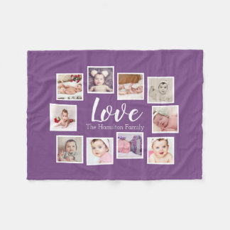 Create Your Own 10 Photo Collage Personalized Fleece Blanket
