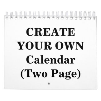 Create Your Own 2017 Calendar (Two Page)