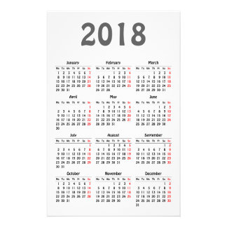 Create your own 2018 calendar flyer