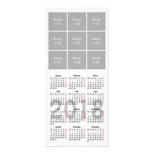 Create your own 2018 calendar Rack Card