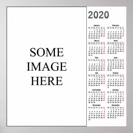 Poster Calendario 2020.Create Your Own 2020 Calendar Poster