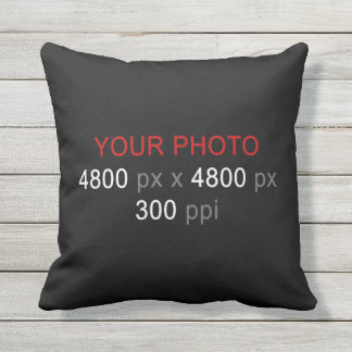 Create Your Own 2 Photos Custom 16 Inch Outdoor Cushion
