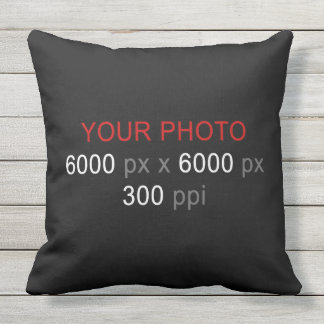 Create Your Own 2 Photos Custom Throw Pillow