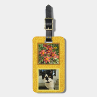Create Your Own 2 Square Instagram Photo Honey Luggage Tag