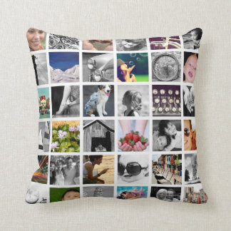 Create-Your-Own 72 Photo Collage Throw Pillow