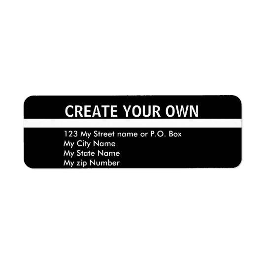 Create Your Own 9 simple return address Label, Return Address Label