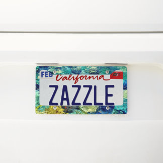 Create Your Own Abstract Art Licence Plate Frame
