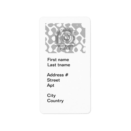 Create Your Own Address Label White Vertical
