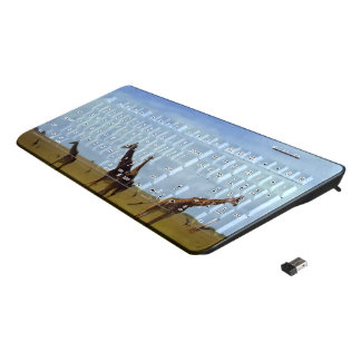 Create Your Own African Safari giraffe Kenya wild Wireless Keyboard