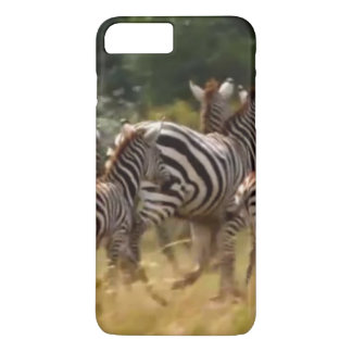 Create Your Own African Zebra On the Run iPhone 7 Plus Case