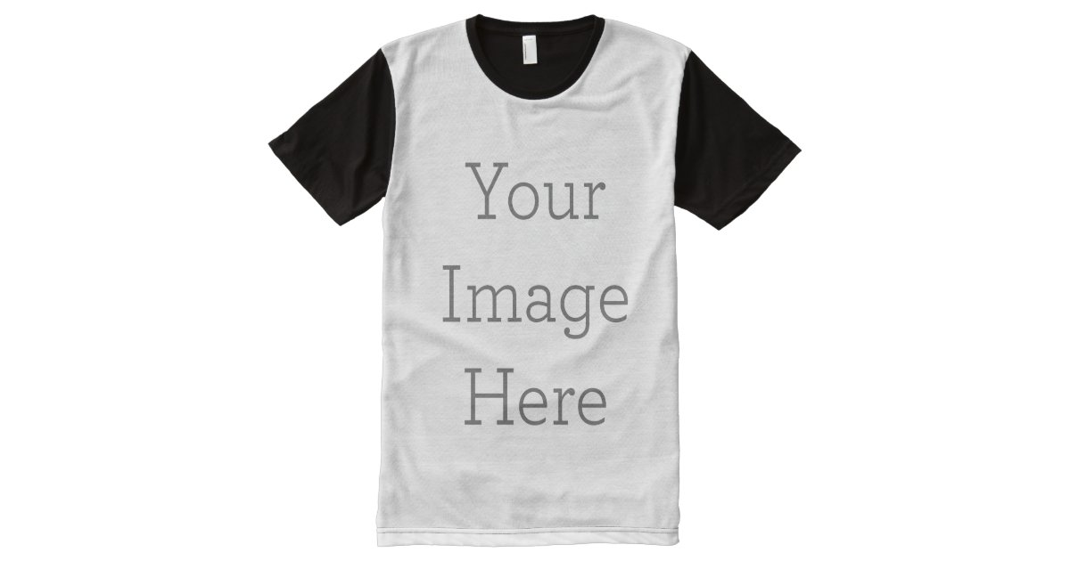 Create Your Own All Over Printed Panel T Shirt All Over