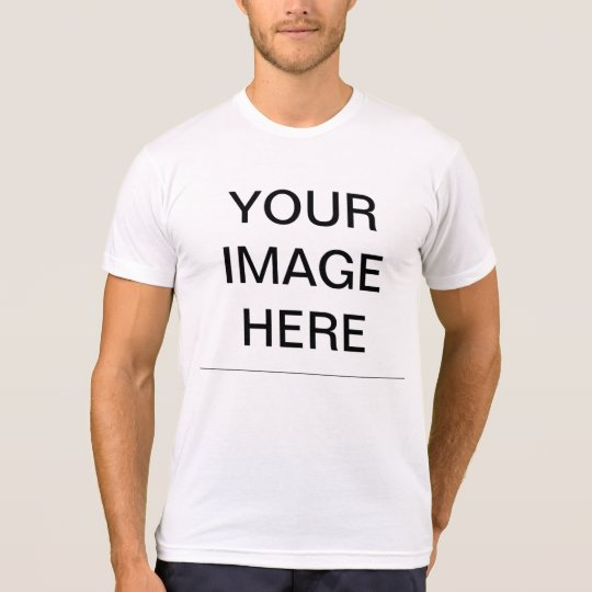 create your own american apparel poly cotton blend t shirt