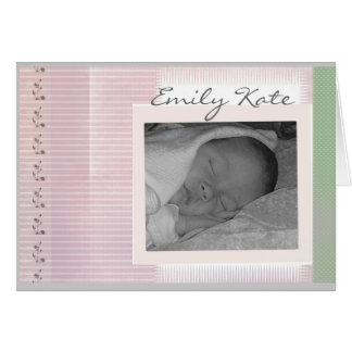 Create your own baby announcements greeting cards