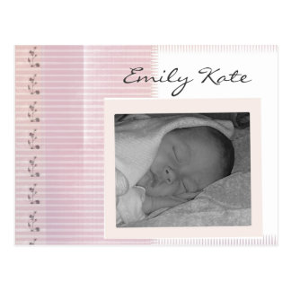 Create your own baby announcements postcard