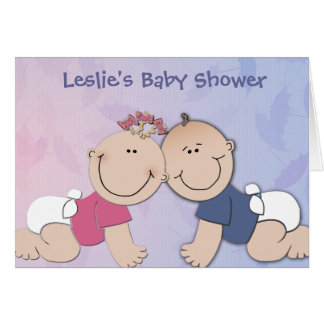 Create your own baby shower design greeting card