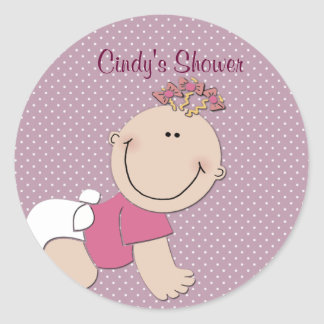 Create your own baby shower stickers