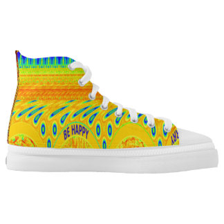 Create Your Own Be Happy casual unique colorful Printed Shoes