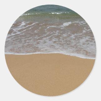 Create your own beach theme classic round sticker