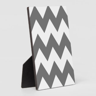 Create Your Own Big Charcoal Zigzag Pattern Display Plaques