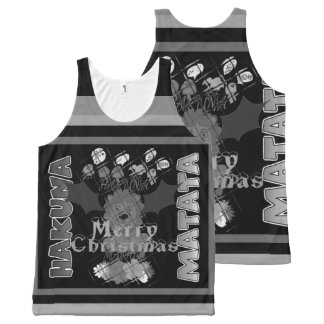 Create your own black and white Hakuna Matata wish All-Over Print Singlet