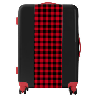 Create Your Own Black Gingham Luggage
