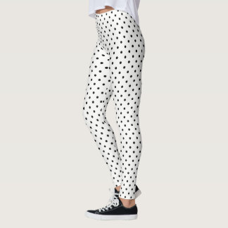 Create Your Own Black Polka Dot Leggings