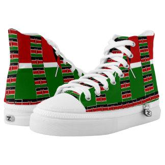 Create your own black red green US Men 4 US Women Printed Shoes