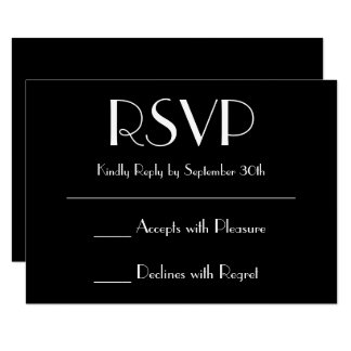 Create Your Own Black RSVP Card